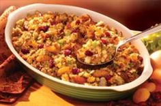 Herbed cornbread dressing with dried fruit