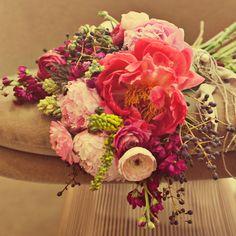 // Favorite flowers minus lilac - peonies, ranunculus, roses