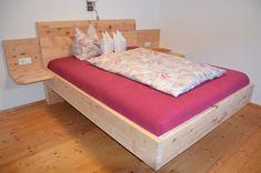 Massives Zirbenbett naturbelassen Relax, Diy Furniture, Toddler Bed, Woodworking, Home Decor, Living Room, Beds, Woodworking Joints, Bedroom
