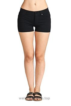 Emmalise Womens Summer Casual Stretchy Shorts, Small, Black  BUY NOW     $9.97    Great Product! Small – |waist 13.5″|Rise 6.25″|Length 10.5″| Medium – |waist15.25″|Rise 6.75″|Length 11.25″| Large – |waist 15.5″|Rise 6.75″|Length 11.5″|Comfortable E ..