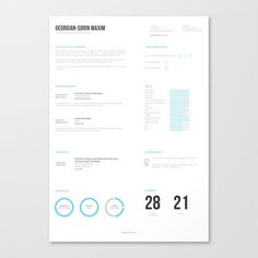 This template is refreshing (and even somewhat relaxing) to look at.   21 Free Résumé Designs Every Job Hunter Needs