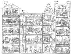1914 Best Adult coloring pages/miniature/treehouses/hobbit ...