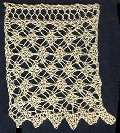 Free Knitting Pattern: Wide Tunisian Lace