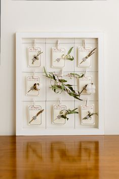 DIY Botanical Escort Cards | photography by http://www.sarahpostma.com (via @amiatead)