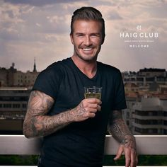 David Beckham at the Haig Club in Edinburgh - Single Grain Whisky -  ALMOST enough to make me want to drink whisky...almost! #HeIsVeryPurrty