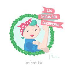 ¡Las chicas son guerreras! #elmundodeMartina #frasedeldía