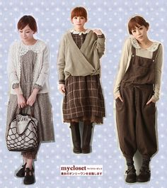Sweaters and lace Mori Style