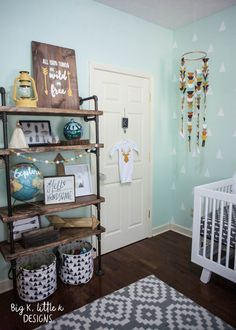 Rustic Modern boy nursery - Big K, little k designs