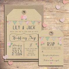 25 Country Wedding Invitations Wedding by papertreemedia on Etsy