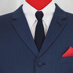 Mod Suits, Navy Suits, Groom Attire, Groom Suits, 3 Button Suit, Herringbone Suit, T Shirt Hacks, Suit Shop