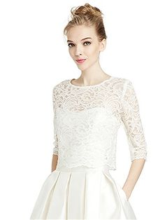 Lace top - give your strapless wedding dress sleeves! (Great for church ceremonies, or to have a second look on your wedding day)