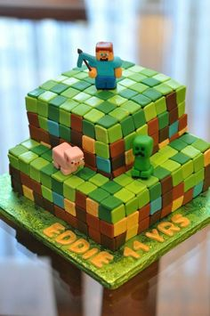 Minecraft Party Ideas Creeper cake Creepers and Cake