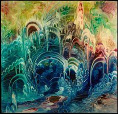 Eugene Von Bruenchenhein #painting #psychedelic