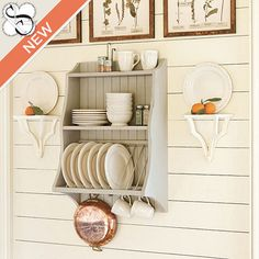 Suzanne Kasler Hanging Plate Rack  sc 1 st  Pinterest & The Plate Rack Co. - Hand Crafted Bespoke Kitchen Furniture ...