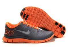 low cost 52c89 1ffce The Unisex Women s Nike Free Run 4.0 V2 Black Orange Running Shoes provide  the supreme flexibility
