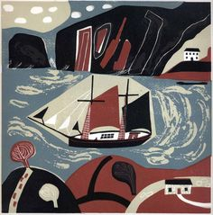 Against The Tide #featured #linocut #relief