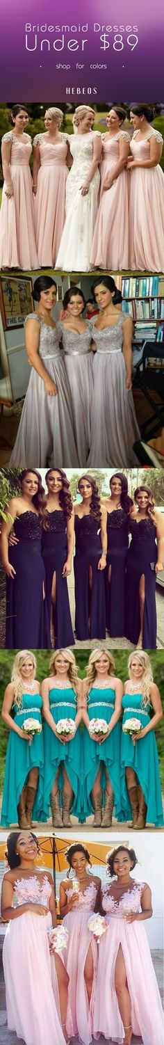 Hebeos You saved to Bridesmaid Dresses  Hebeos Cheap bridesmaid dresses mix & match for 2017 trends colors! Big sale in #Hebeos.com