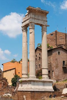 Ionian Colums next to Marcello Theatre. Roma, Italy
