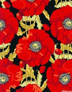 Scarlet - Poppy Profusion - Black
