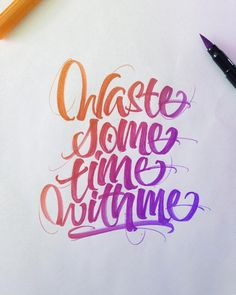 Crayola & Brushpen Lettering by David Milan.Follow: Website... Calligraphy Brushpen Lettering Hand Type Typography Daily Type David Milan