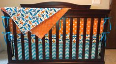 Hey, I found this really awesome Etsy listing at https://www.etsy.com/listing/164286318/airplanes-orange-dots-and-aqua-chevron