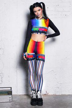 309dea60302f7 TV Leggings printed leggings festival outfit festival wear #leggings  #outfitoftheday #instafashion #streetwear