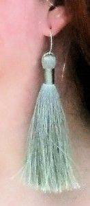 Tassel earrings are