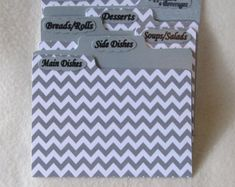 Recipe Card Dividers for Wood Fence Turquoise Recipe Box