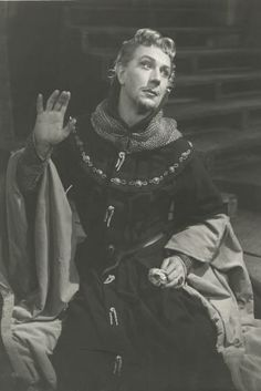 """Michael Redgrave in Richard the II He was one of the most brilliant interpreters of Shakespeare, """"No subtlety of inflexion or pronounciation escapes him""""."""
