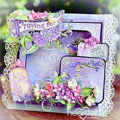 Birds, Lilacs and Prayers - #HeartfeltCreations #papercraft #craft #card #cardmaking #religious #friendship #thinkingofyou