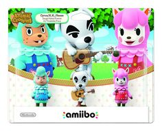 Amazon.com: Animal Crossing Series 3-Pack Amiibo (Animal Crossing Series): Amiibo Animal Crossing: 3-Pack Series: Video Games