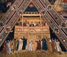 Andrea di Bonaiuto - Pentecoste - affresco della volta - 1365-1367 - Cappellone degli Spagnoli - Museo di Santa Maria Novella, Firenze
