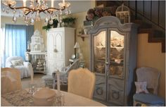 Design Ideas for White Kitchens | Traditional Home Country French White Kitchen| Traditional Home Country French White Kitchen This country-style kitchen features a large island that serves as both a dining area as well as a workspace. Description from pinterest.com. I searched for this on bing.com/images