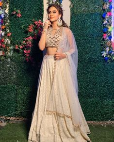 What Tellytown Wore This Festive Season Get Some Idea - AwesomeLifestyleFashion Indian Bridal Outfits, Indian Fashion Dresses, Asian Fashion, Fashion Clothes, Women's Fashion, Fashion Design, Choli Designs, Lehenga Designs, Peach Clothes