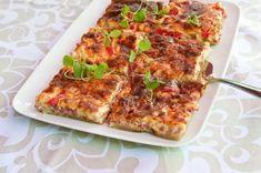 Talkooväen kinkkupiiras Sweet And Salty, Tasty Dishes, Vegetable Pizza, Lasagna, Quiche, Goodies, Food And Drink, Baking, Vegetables