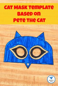 Cat Mask Template Based on Pete the Cat - JDaniel4s Mom Wooden Craft Sticks, Craft Stick Crafts, Printable Masks, Free Printable, Cow Mask, Shark Mask, Easy Crafts For Kids, Kid Crafts, Cute Shark