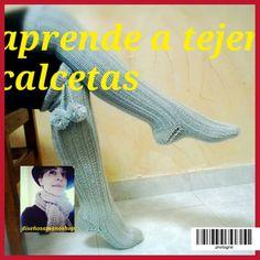 APRENDE HACER PUNTO paso a paso(7)tejer calcetas