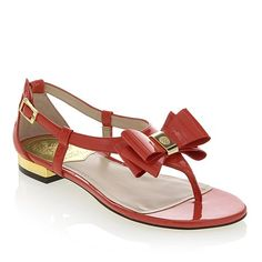 """Obsessed!!! I need this in every color!! Vince Camuto """"Harmoni"""" Exclusive Leather Bow Sandal"""