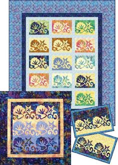 Continuous Line Applique!  Beautiful quilts and designs: she explains how to cut one continuous line to create two blocks on her site.  Really creative.