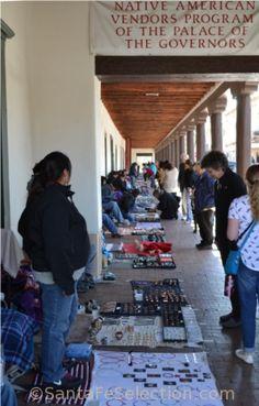 Native vendors along the Palace of the Governors Portal, Santa Fe, 2014. http://santafeselection.com/blog/2014/04/18/visit-santa-fe-history/