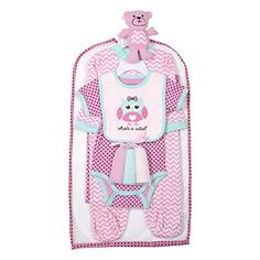Cutie Pie Baby Newborn Girl Owl 9Pc Layette Set in Tulle Bag on Hanger 03M * You can find out more details at the link of the image.-It is an affiliate link to Amazon.
