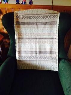 Setesdal vognteppe annen fargekombinasjon Blanket, Knitting, Baby, Tricot, Breien, Stricken, Weaving, Blankets, Knits