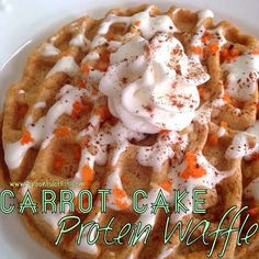 carrot cake protein waffles