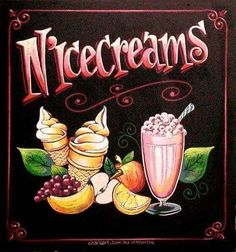 Chalk Art - Menu Boards (NiceCreams Smoothie)