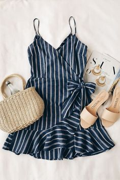Cute Dresses, Casual Dresses, Casual Outfits, Summer Dresses, Summer Clothes, Fashionable Outfits, White Outfits, Striped Outfits, Kohls Dresses