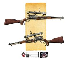 Steampunk Sniper Rifle Concept: