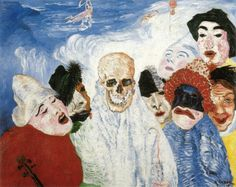 """Death and the Masks"" (1897) by James Ensor"