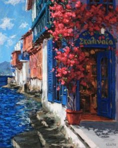 Cerulean Shore Greece 2008 by Victor Shvaiko