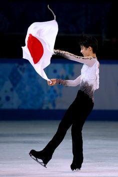 "Hinomaru Boy : Gold Medalist: ""Yuzuru Hanyu"" #Japan, #FigureSkating #Sochi2014 Winter #Olympics #TeamJapan #YuzuruHanyu #羽生結弦 #日本"