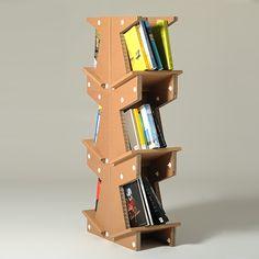 #Tipsi is a corrugated #cardboard #bookcase module.